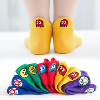 大人気♡ 刺繍★可愛い子供靴下5足セット