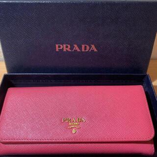 プラダ(PRADA)のプラダ サフィアーノ ピンク 財布(財布)