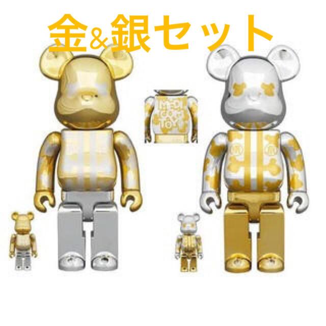MEDICOM TOY(メディコムトイ)のBE@RBRICK はっぴ東京 金銀メッキ 2体セット100% & 400% エンタメ/ホビーのフィギュア(その他)の商品写真