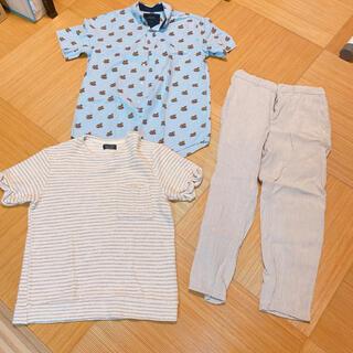 ザラ(ZARA)のZARA MAN 3点セット シャツ 半袖 パンツ(Tシャツ/カットソー(半袖/袖なし))