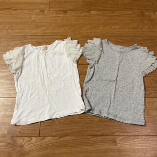 petit main - petit main フリル袖 2枚セット 100