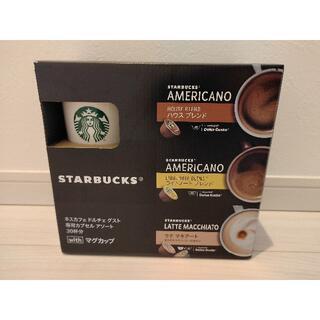 スターバックスコーヒー(Starbucks Coffee)のネスカフェ ドルチェグスト専用カプセルアソート30杯withマグカップ(コーヒー)
