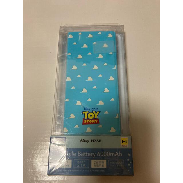 Disney(ディズニー)のモバイルバッテリー スマホ 充電器 ディズニー Disney トイストーリー スマホ/家電/カメラのスマートフォン/携帯電話(バッテリー/充電器)の商品写真