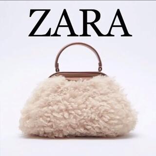 ザラ(ZARA)のZARA フェイクファークロスボディバッグ ザラ 完売 新品未使用(ショルダーバッグ)
