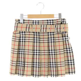 バーバリー(BURBERRY)のバーバリー チェック柄プリーツスカート(ミニスカート)