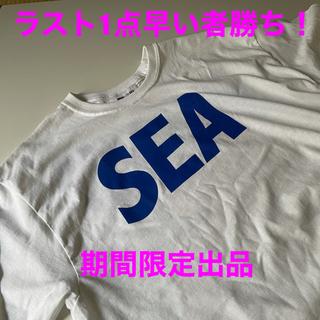 ロンハーマン(Ron Herman)の21S/S WIND AND SEA LOGO L/S TEE WH XL(Tシャツ/カットソー(七分/長袖))