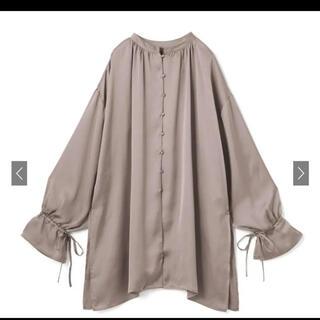 GRL - GRL 前後2Wayバンドカラーサテンロングシャツ