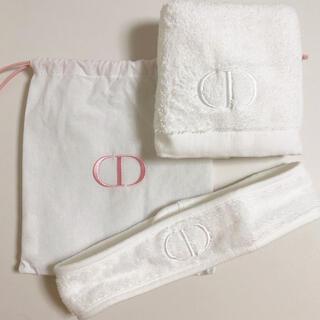 クリスチャンディオール(Christian Dior)のChristian Dior ディオール タオル ヘアバンド 巾着 セット(ノベルティグッズ)