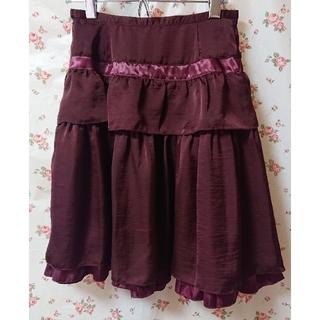 エミリーテンプルキュート(Emily Temple cute)のエミキュ スカート ① ワインレッド(ひざ丈スカート)