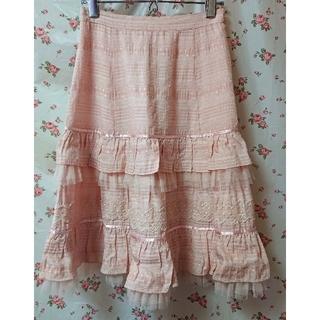 エミリーテンプルキュート(Emily Temple cute)のエミキュ スカート ③ ピンク(ひざ丈スカート)