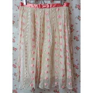 エミリーテンプルキュート(Emily Temple cute)のエミキュ スカート ④ ドット シフォン(ひざ丈スカート)