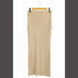 シンゾーン(Shinzone)のシンゾーン リブニット ロングタイトスカート(ロングスカート)
