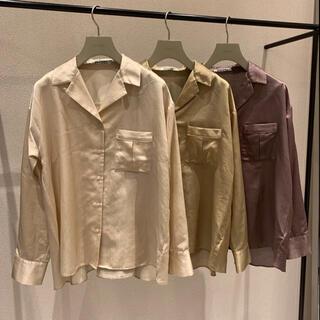 snidel - 【美品】スナイデル シャツ オーバーシャツ シルクシャツ シアーシャツ