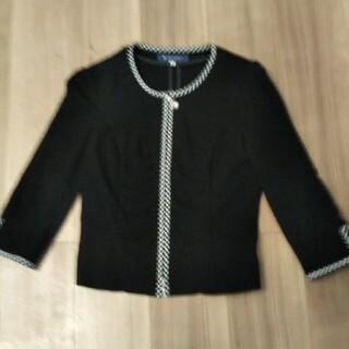 エムズグレイシー(M'S GRACY)の美品 エムズグレイシー 薄手ジャケット 黒 38(ノーカラージャケット)