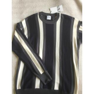ザラ(ZARA)のZARA ザラ ストライプ セーター メンズ L 新品未使用(ニット/セーター)