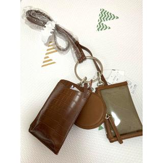 しまむら - 【新品未使用タグ付き】しまむら 3連クロコマルチミニショルダー バッグ