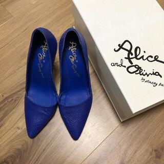 アリスアンドオリビア(Alice+Olivia)のアリスアンドオリビア♡パイソン柄♡パンプス(ハイヒール/パンプス)