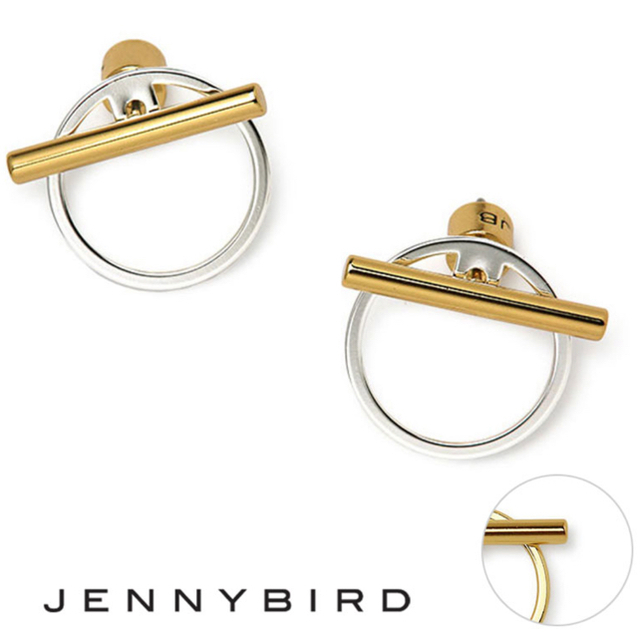 TOMORROWLAND(トゥモローランド)の未使用品Jenny bird 14kコンビフープピアス レディースのアクセサリー(ピアス)の商品写真