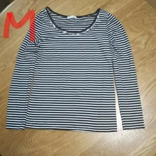 インデックス(INDEX)のIndex  レディースボーダー長袖Tシャツ M(カットソー(長袖/七分))