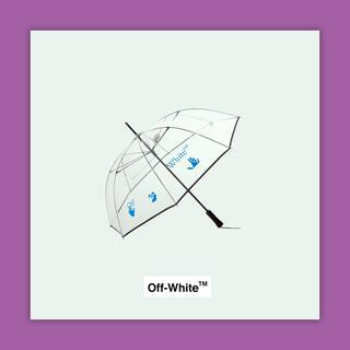 OFF-WHITE - OFF-WHITE TRANSPARENT LONG UMBRELLA