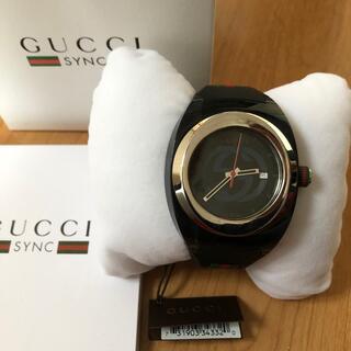 Gucci - GUCCI SYNC XXL クォーツ 黒 グッチ腕時計