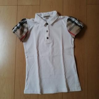 BURBERRY - BURBERRY 袖2WAY ポロシャツ 140cm