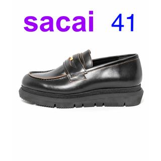 サカイ(sacai)の新品未使用 sacai men's 2021 新作 ダブルローファー サイズ41(ドレス/ビジネス)