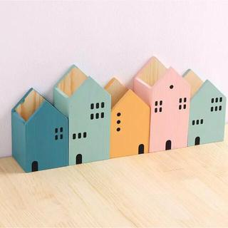 IKEA - 新品 北欧風 可愛い家のかたちのペン立て 子供部屋 インテリア 雑貨