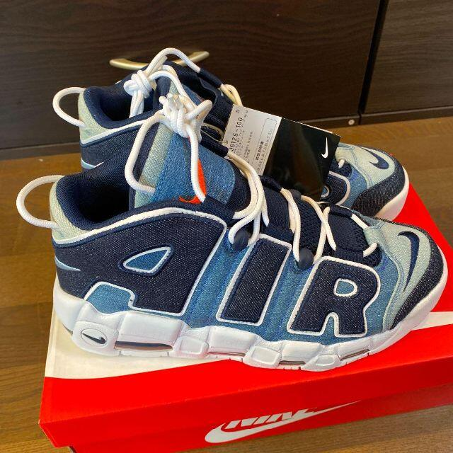 NIKE AIR MORE UPTEMPO 96 QS DENIM 27cm メンズの靴/シューズ(スニーカー)の商品写真