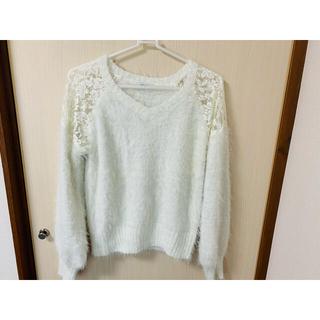 オリーブデオリーブ(OLIVEdesOLIVE)の白セーター(ニット/セーター)