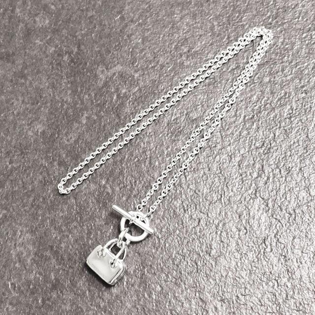 Hermes(エルメス)の正規品 エルメス ネックレス プリュム シルバー バッグ 鞄 925 銀 ケリー レディースのアクセサリー(ネックレス)の商品写真