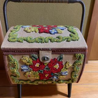 昭和レトロアンティーク裁縫箱(ケース/ボックス)