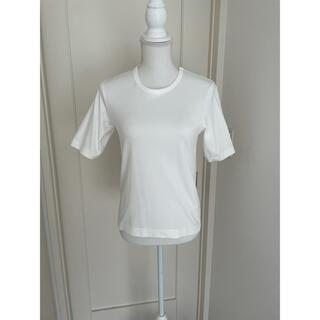 ドゥロワー(Drawer)の♡新品♡ CINOH Tシャツ ホワイト サイズ38(Tシャツ/カットソー(半袖/袖なし))