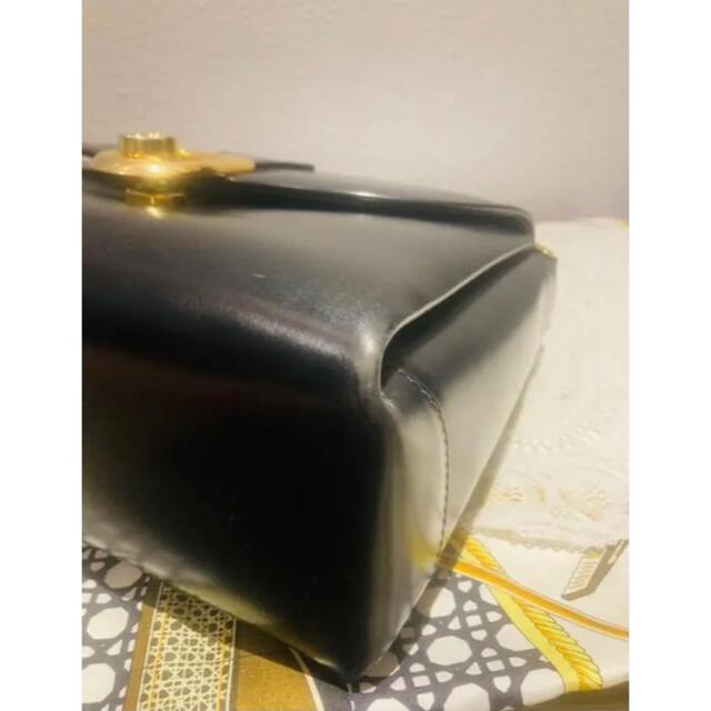 Gucci(グッチ)の希少  ゴールドクレスト タグ オールド GUCCI ヴィンテージ ターンロック レディースのバッグ(ショルダーバッグ)の商品写真