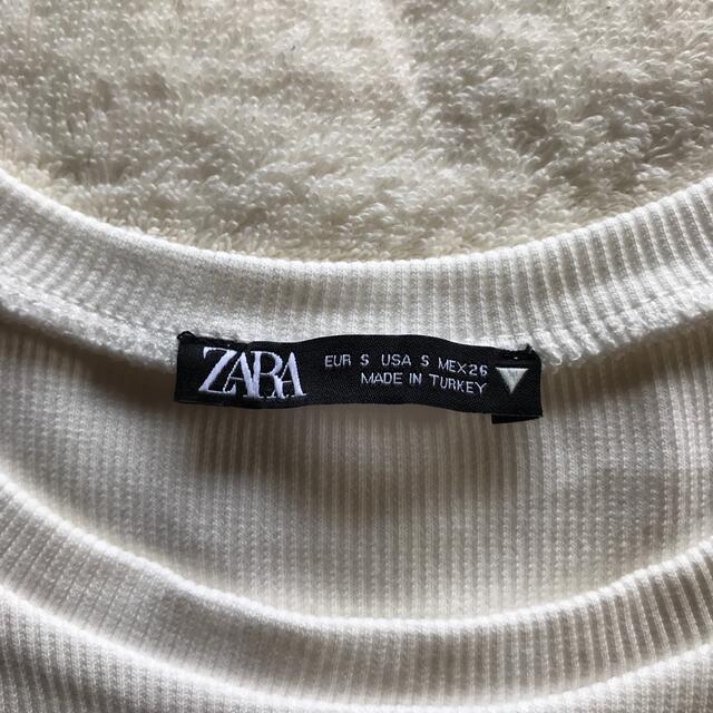 ZARA(ザラ)のZARA ザラ 白T 白ティー XS 白Tシャツ 半袖 ショート丈 メンズのトップス(Tシャツ/カットソー(半袖/袖なし))の商品写真