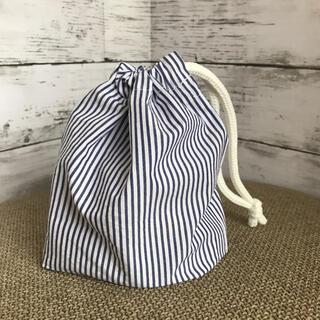 新品 ハンドメイド コップ袋 紺色 ネイビー シンプル ヨット(外出用品)