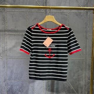 miumiu -  ミュウミュウ miumiu メリヤス半袖Tシャツ SML選択可能