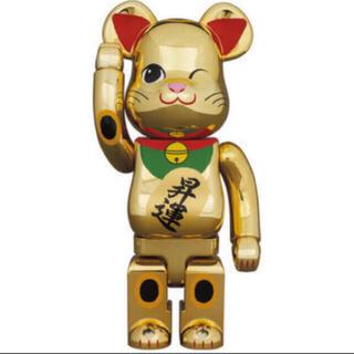 メディコムトイ(MEDICOM TOY)のBE@RBRICK 招き猫 金メッキ 昇運 弐 400% ベアブリック(フィギュア)