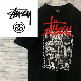 STUSSY - 【超人気】メキシコ製 ステューシー Tシャツ デカロゴ ブラック M