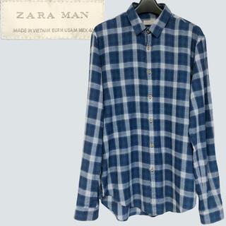 ザラ(ZARA)のZARA チェックシャツ Mサイズ フランネル(シャツ)