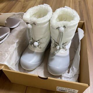 スノーブーツ 21cm ホワイト(ブーツ)
