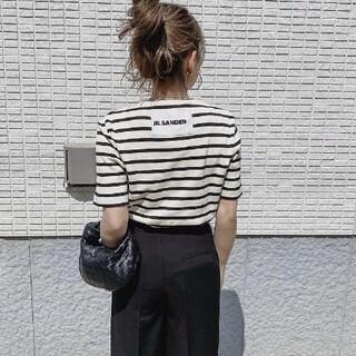 Jil Sander - Jil Sander バック ロゴラベル ボーダー 21SS Tシャツ