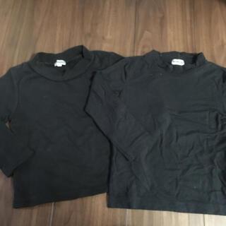 シマムラ(しまむら)のしまむら 黒 長袖 Tシャツ 100 2着セット(Tシャツ/カットソー)