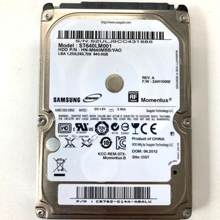 サムスン(SAMSUNG)のSAMSUNG 2.5インチ HDD 640GB(PCパーツ)