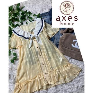 axes femme - アクシーズファム★axes★未使用★Aライン★セーラーカラーチュニック
