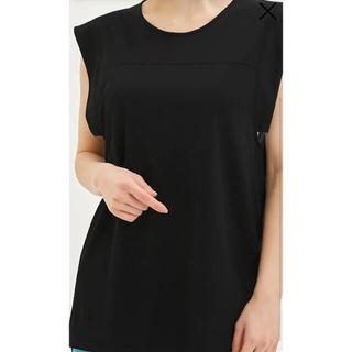 ジーユー(GU)の未使用 GU  メッシュコンビネーションチュニックT(半袖)GA(Tシャツ(半袖/袖なし))