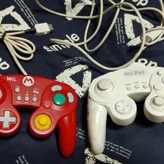 ウィーユー(Wii U)の【WiiPAD】ホリ クラシックコントローラー for Wii U マリオ(その他)