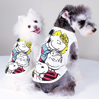 4PETS 犬服 スヌーピー Tシャツ 洋服 ドッグウェア XLサイズ