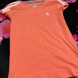 アディダス(adidas)のadidas アディダス Tシャツ オレンジ レディース  S rady(Tシャツ(半袖/袖なし))