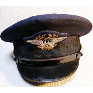 ジャル(ニホンコウクウ)(JAL(日本航空))の【超レア】初代 JAL 制帽 (初代鶴丸以前の制帽)(航空機)